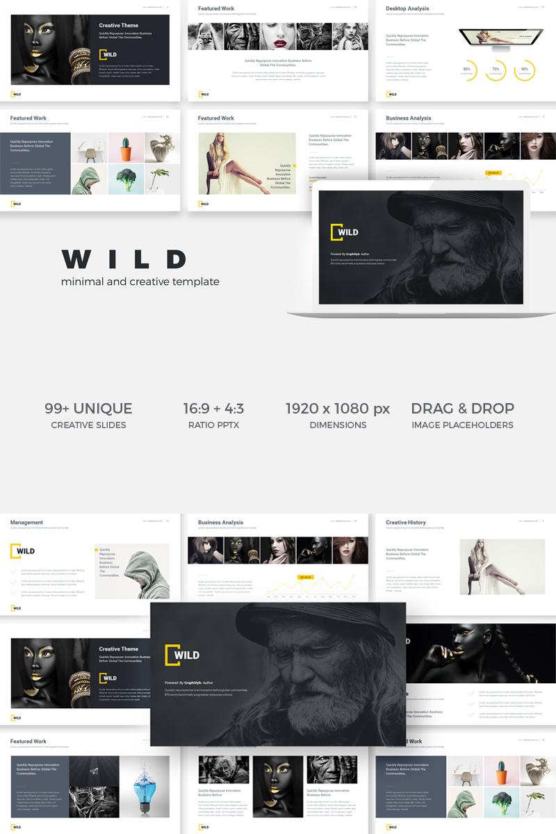 wild minimal creative presentation keynote template 75226
