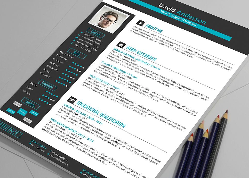 David Anderson Ms Word Format Web Graphic Designer Resume