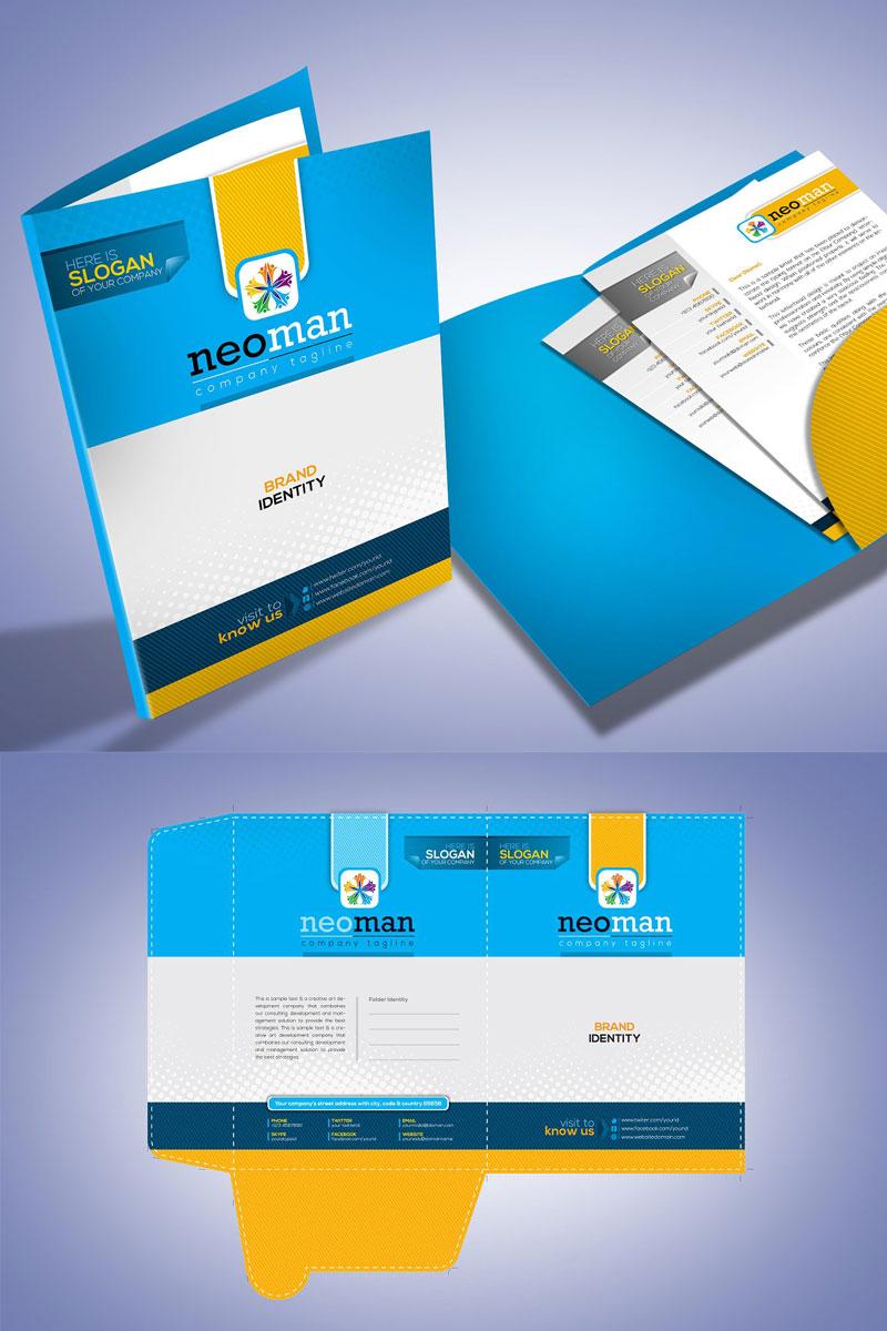 corporate presentation folder design corporate identity template 74870