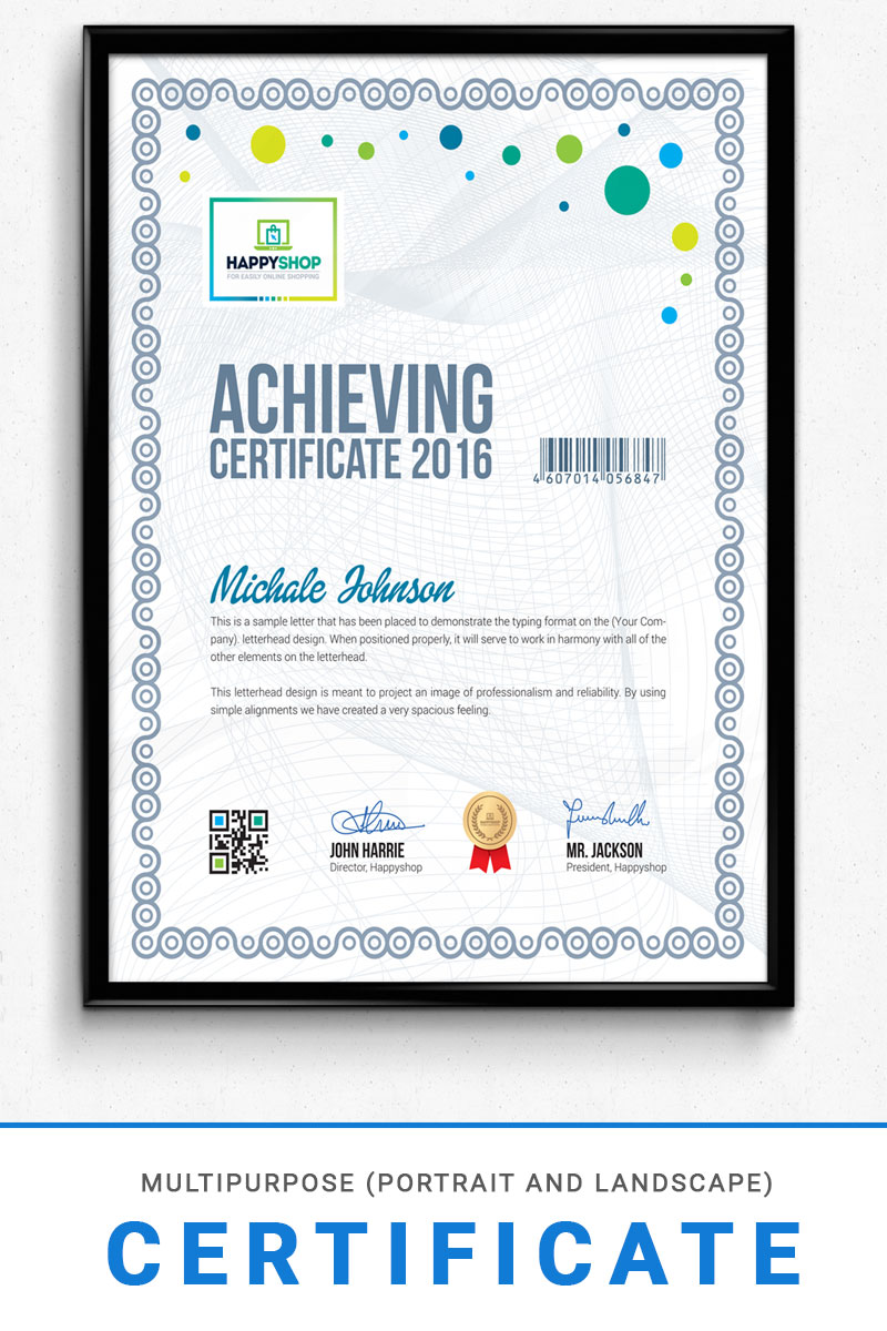 multipurpose corporate  u0026 modern certificate template  74709
