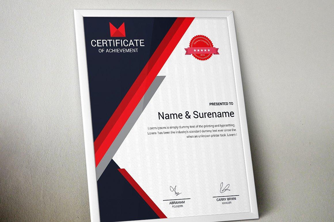 Corporate & Modern | Vol. 02 Certificate Template #74896