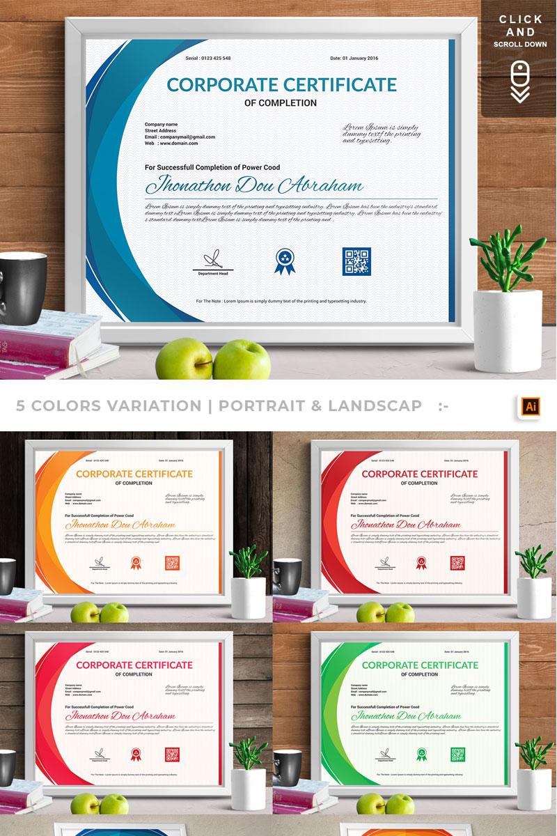 corporate modern vol 06 certificate template 74892