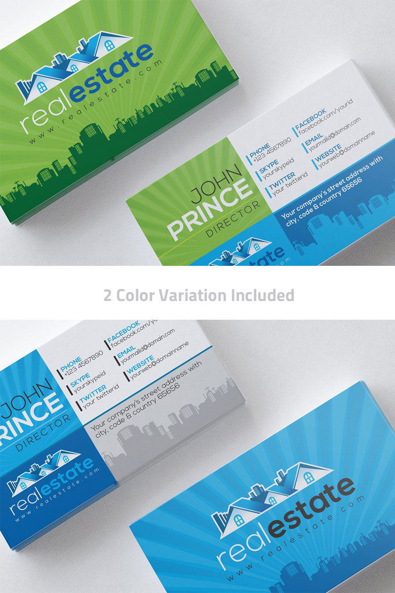 Real Estate Business Card Corporate Identity Template 75781