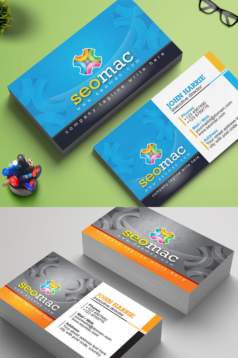 Business Card Corporate Identity Template #75778