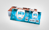 2019 New Year Party Event Ticket Design Corporate Identity Template