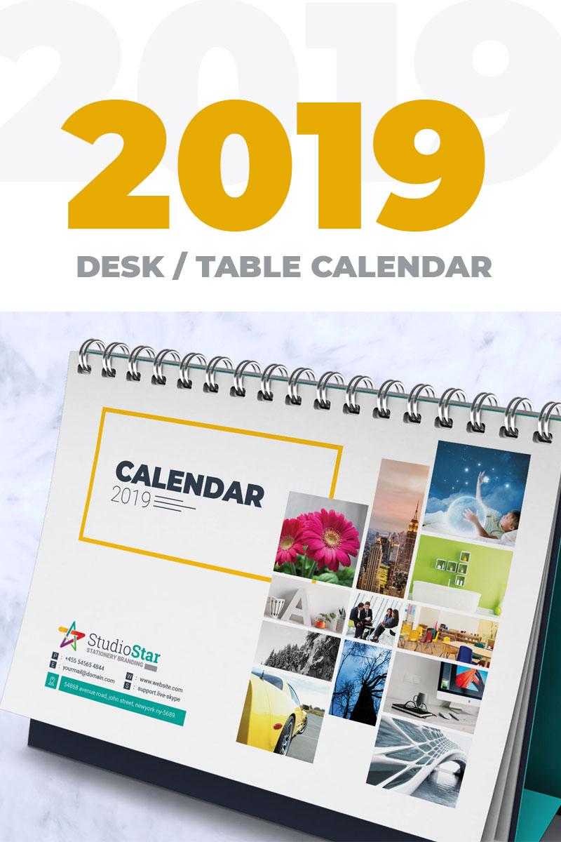 2019 Desk Table Calendar Planner Corporate Ideny Template