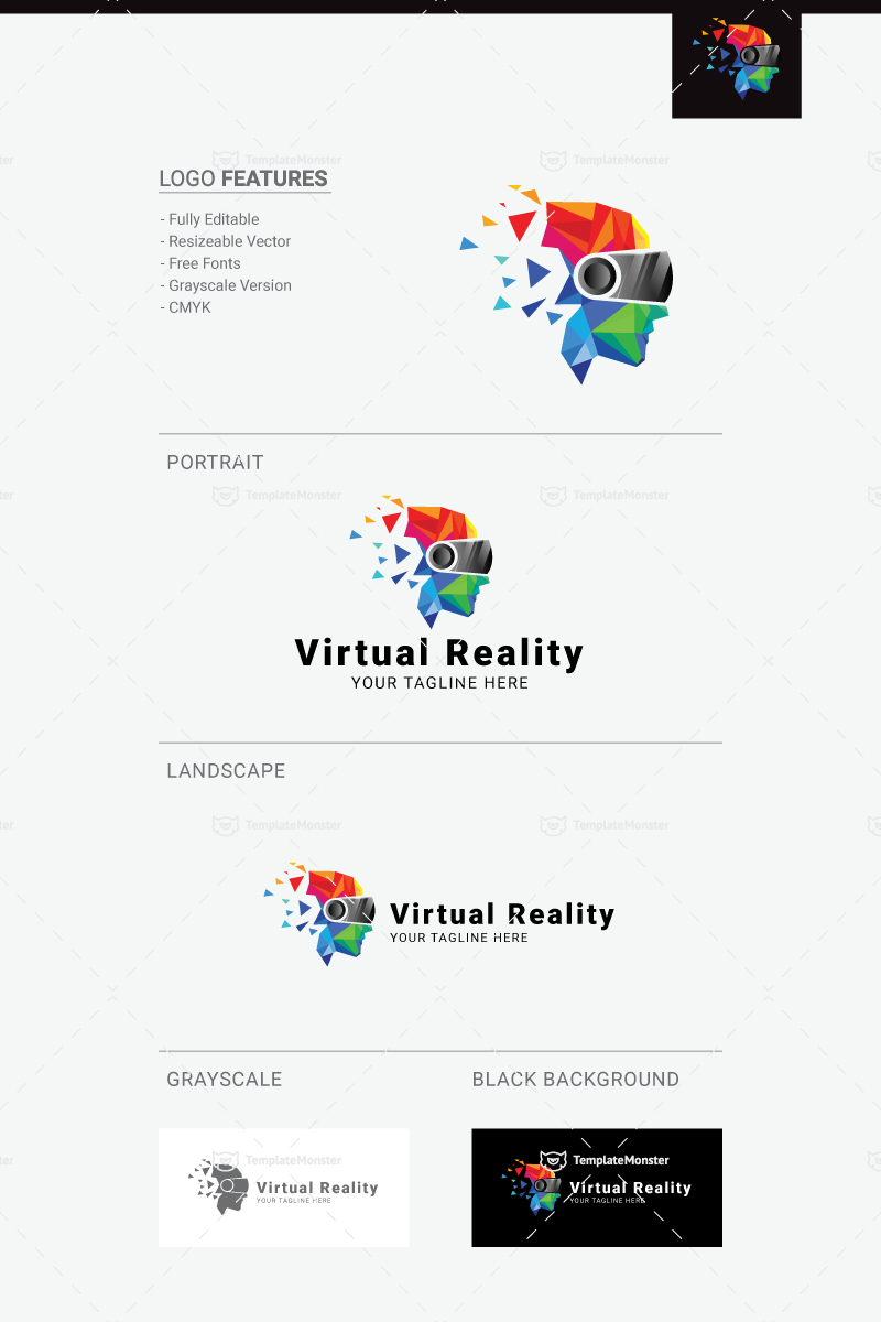 Virtual Reality Logo Template 71889
