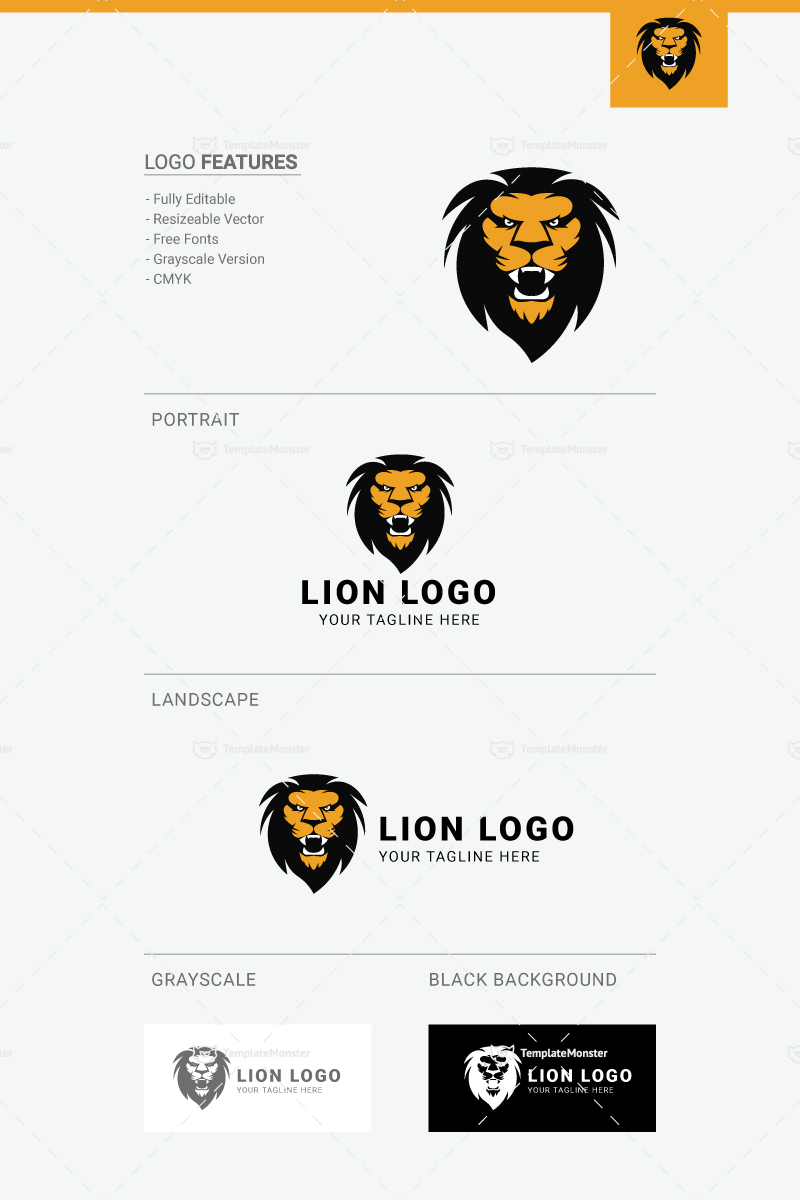 lion logo template 73295