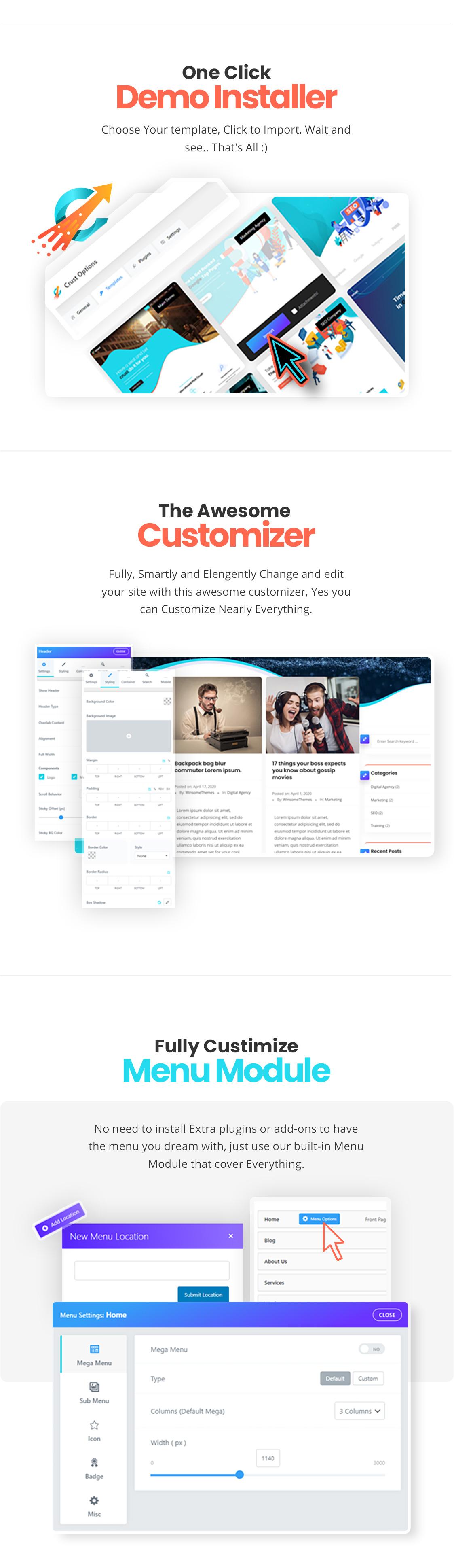 Crust – SEO & Marketing Elementor WordPress Theme