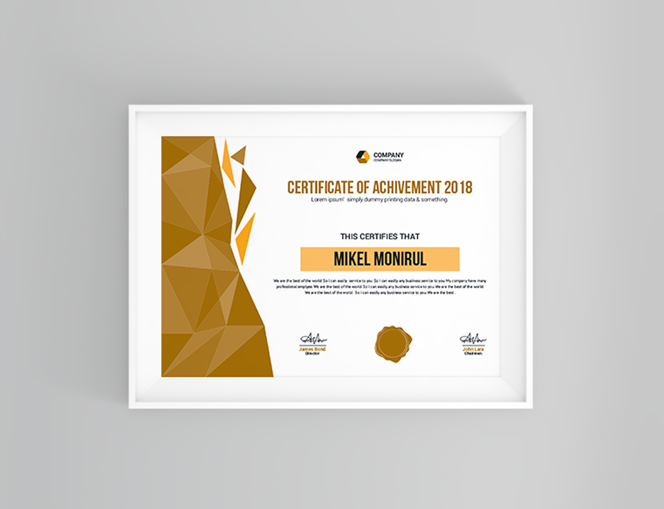 metal group certificate template big screenshot