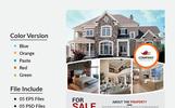 """Unternehmensidentität Vorlage namens """"Khan Real Estate Flyer"""""""