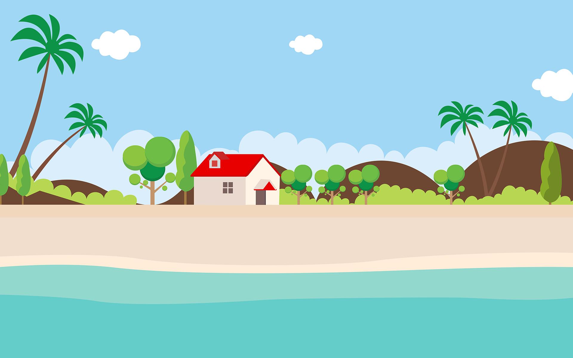 Landscape Illustration Vector Free: Landscape Flat Design Vector Illustration #68700
