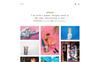 Bootstrap Artis - Minimal Portfolio & Shop WordPress-tema En stor skärmdump