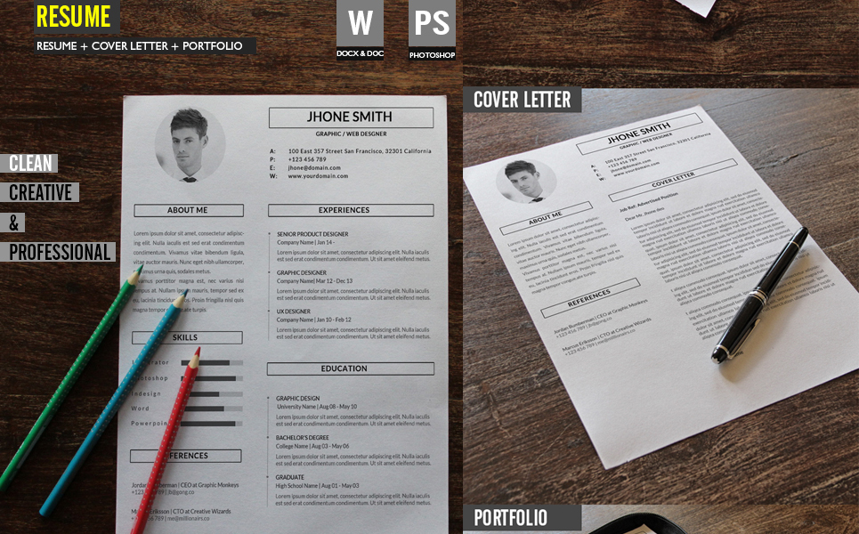 graphic web designer resume template 67860