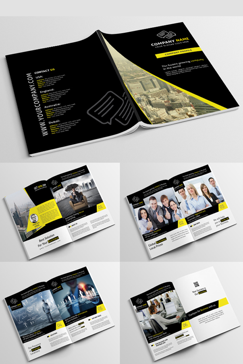 Company Profile PSD Corporate Identity Template #68137