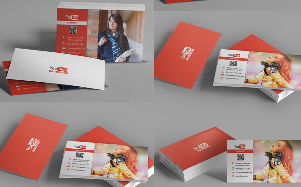 Youtube channel business card corporate identity template 68081 youtube channel business card corporate identity template big screenshot reheart Image collections