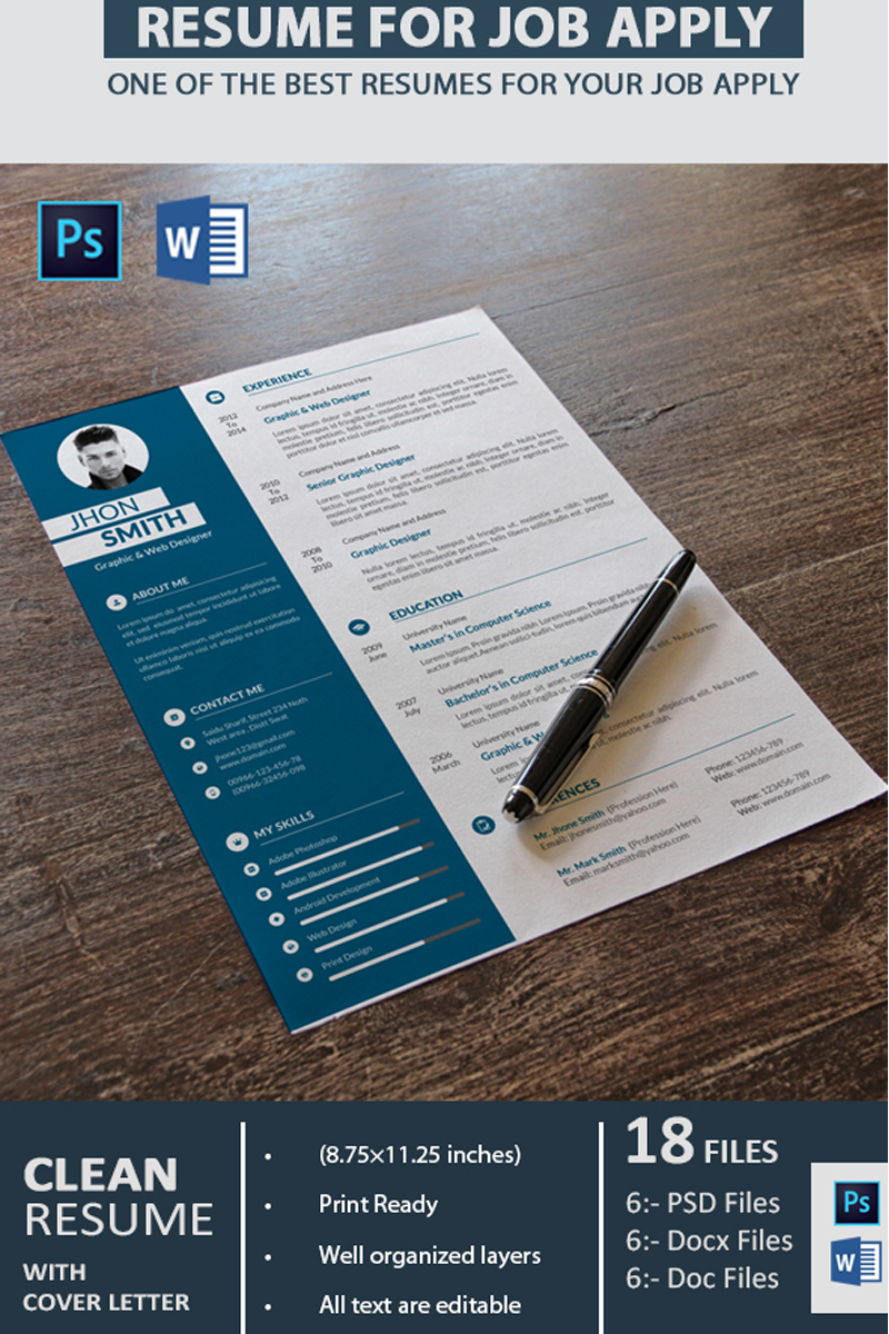 Graphic Designer Resume Template 68136