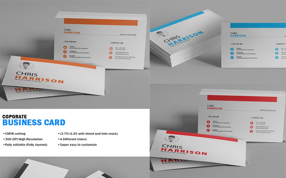 Chris Harrison Corporate Business Card - Corporate Identity Template ...