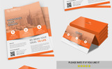 Business Flyer with Business Card Corporate Identity Template