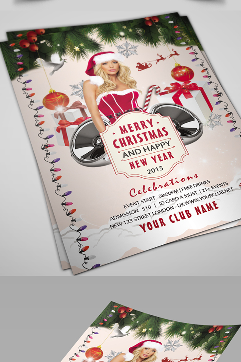 christmas party flyer corporate identity template 69621