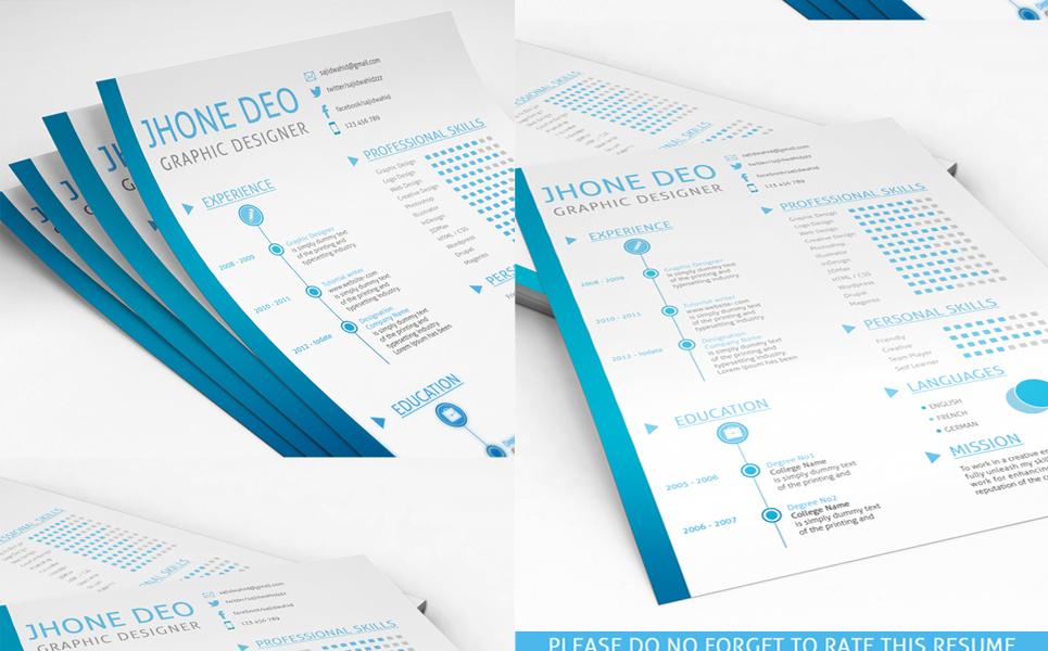 Lebenslauf-Vorlage #71132 für Web Design