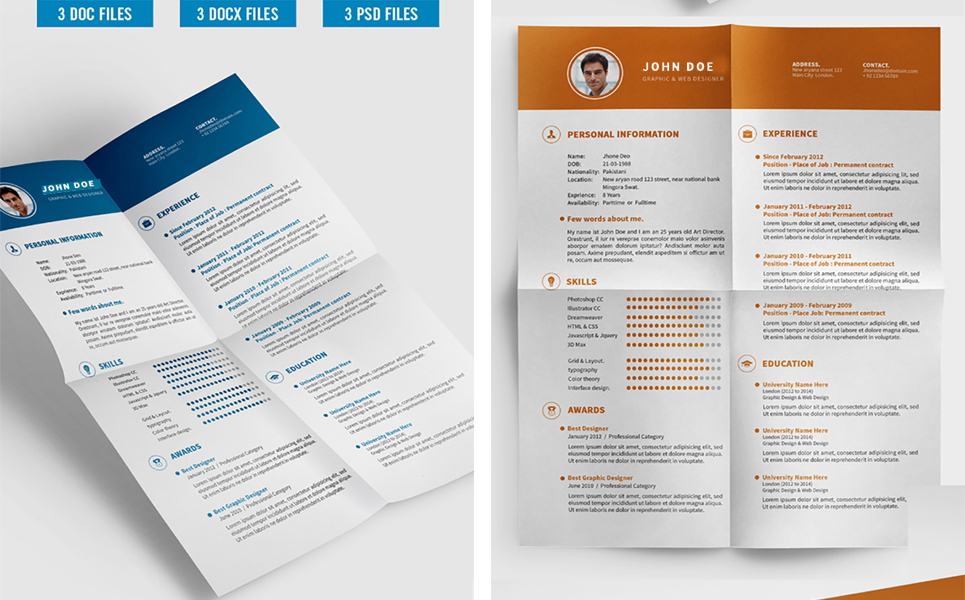 john deo clean resume template  71625