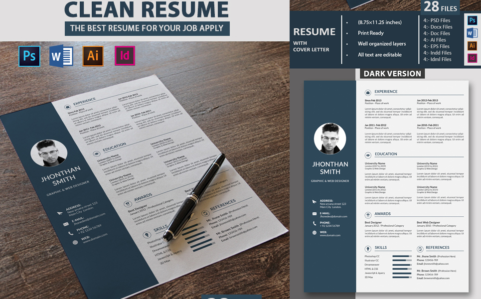 john deo clean resume template  71632