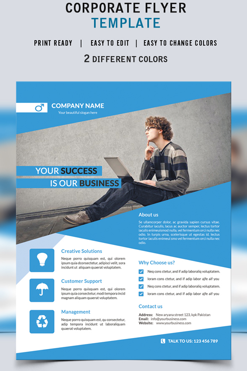 Your Success - Business Flyer Corporate Identity Template #73510