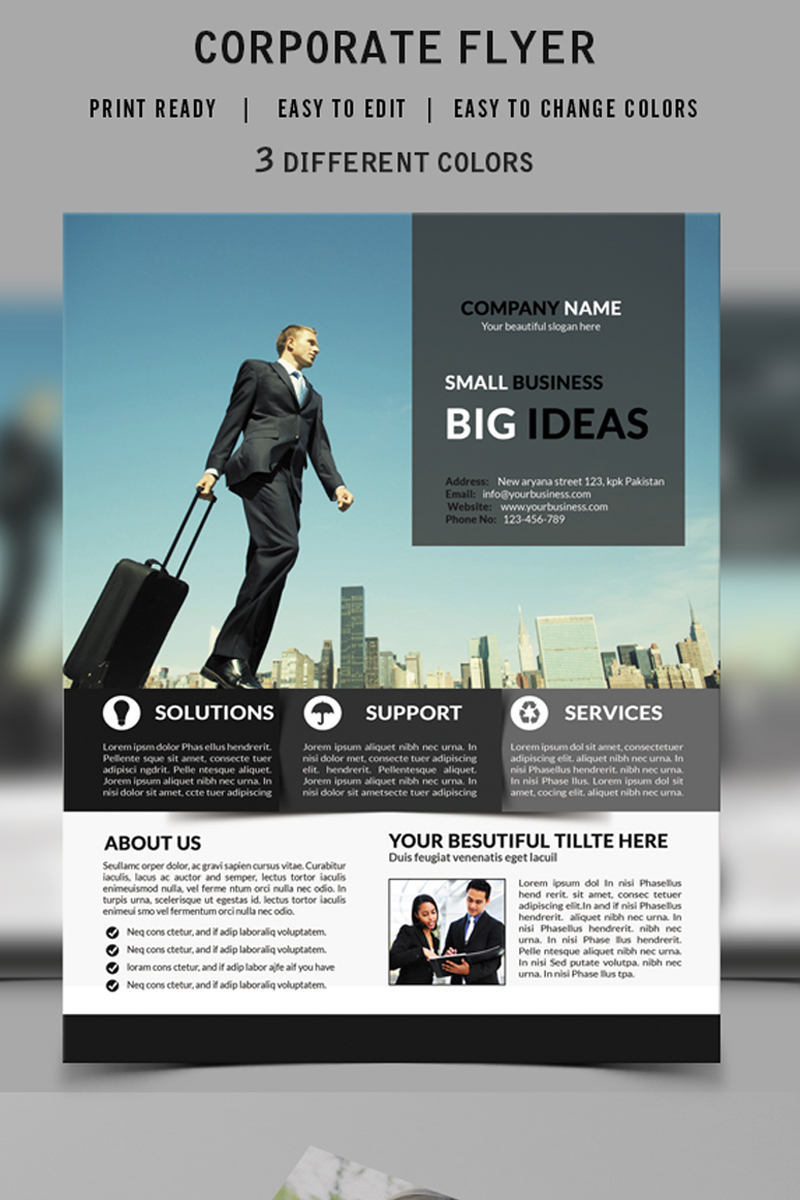 small business flyer design corporate identity template 73509