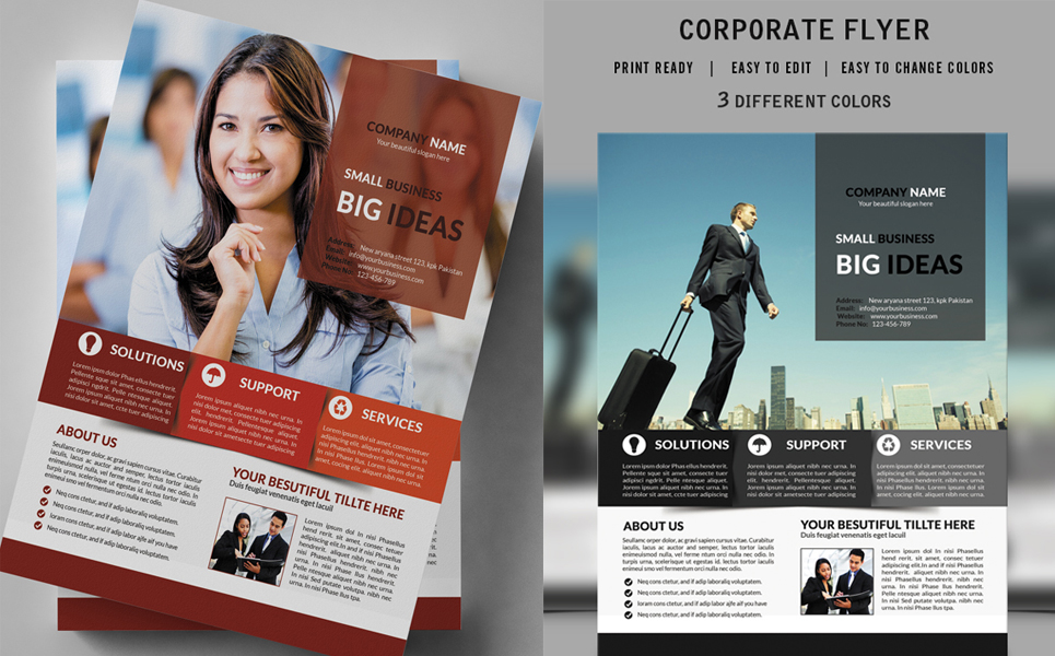 small business flyer design corporate identity template big screenshot zoom in