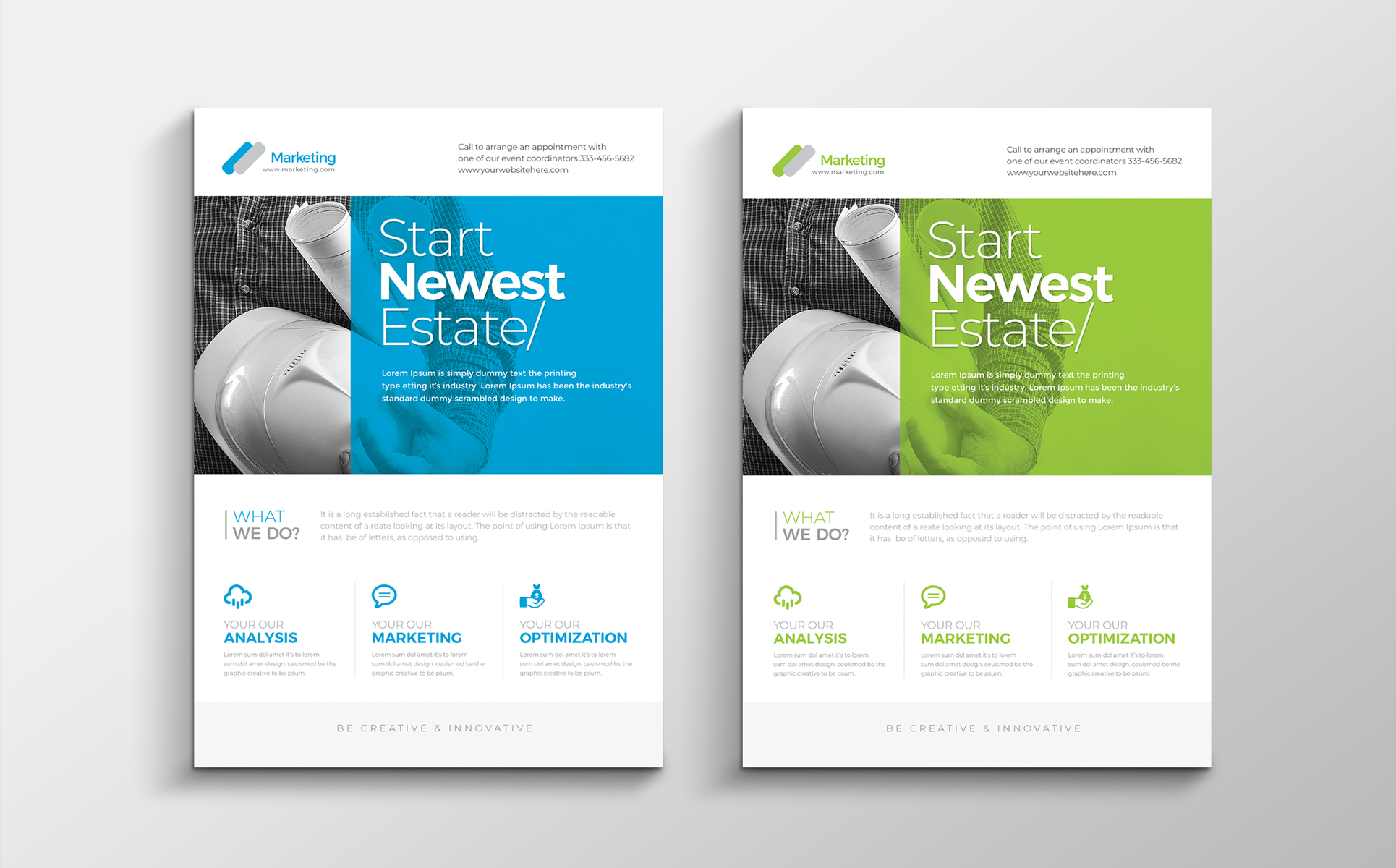 Zoom In Corporate Clean Flyer Corporate Identity
