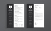 Minimal White Walker Resume Template Big Screenshot