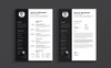 Minimal White Brenner Resume Template Big Screenshot
