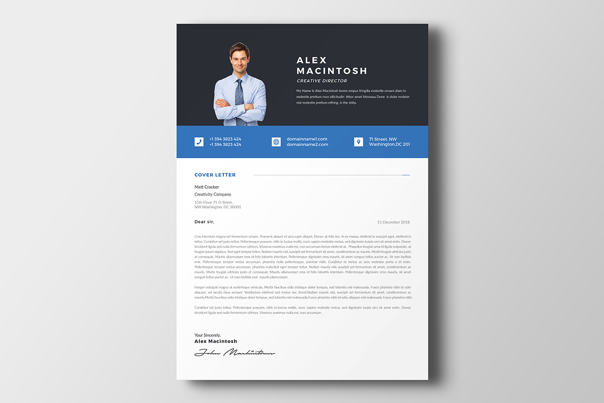 Alex Macintosh Professional Resume Template #69695