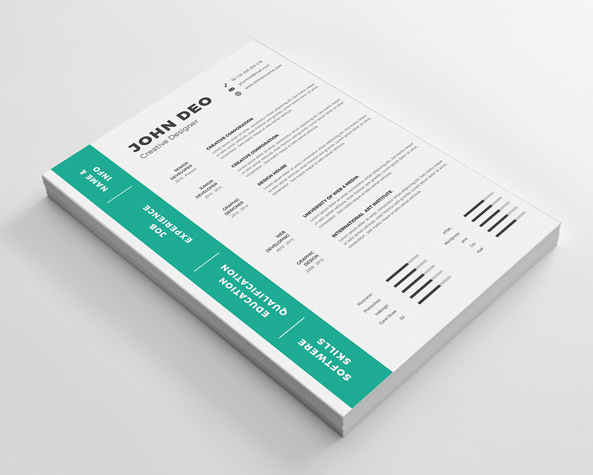 john deo clean resume template  70320