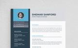 """""""Shemar Sanford"""" modèle de CV"""