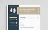 "Lebenslauf-Vorlage namens ""Marcelo"""