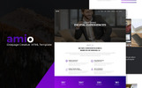 Amio - One Page Parallax Website Template