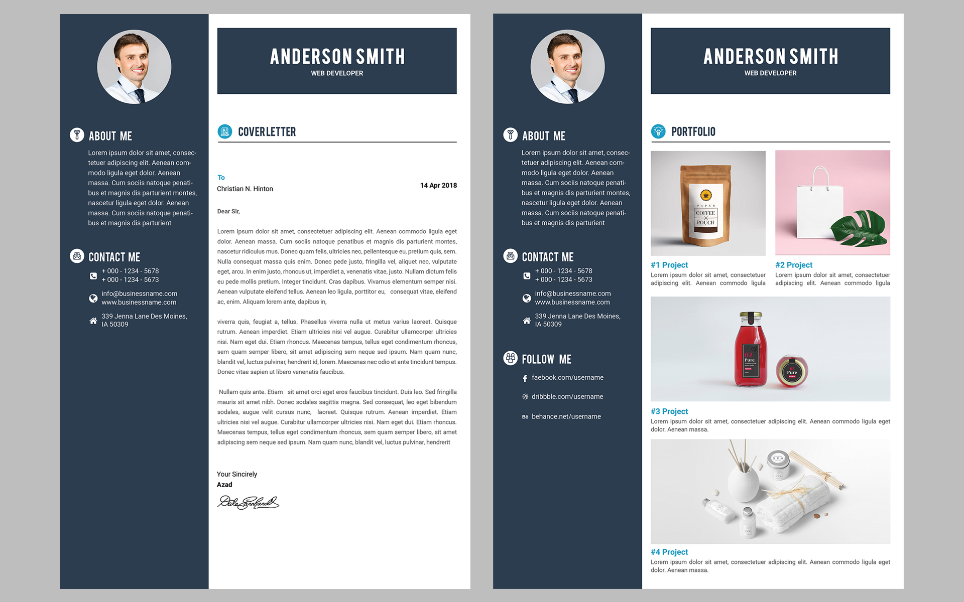 web developer cv resume template  68317