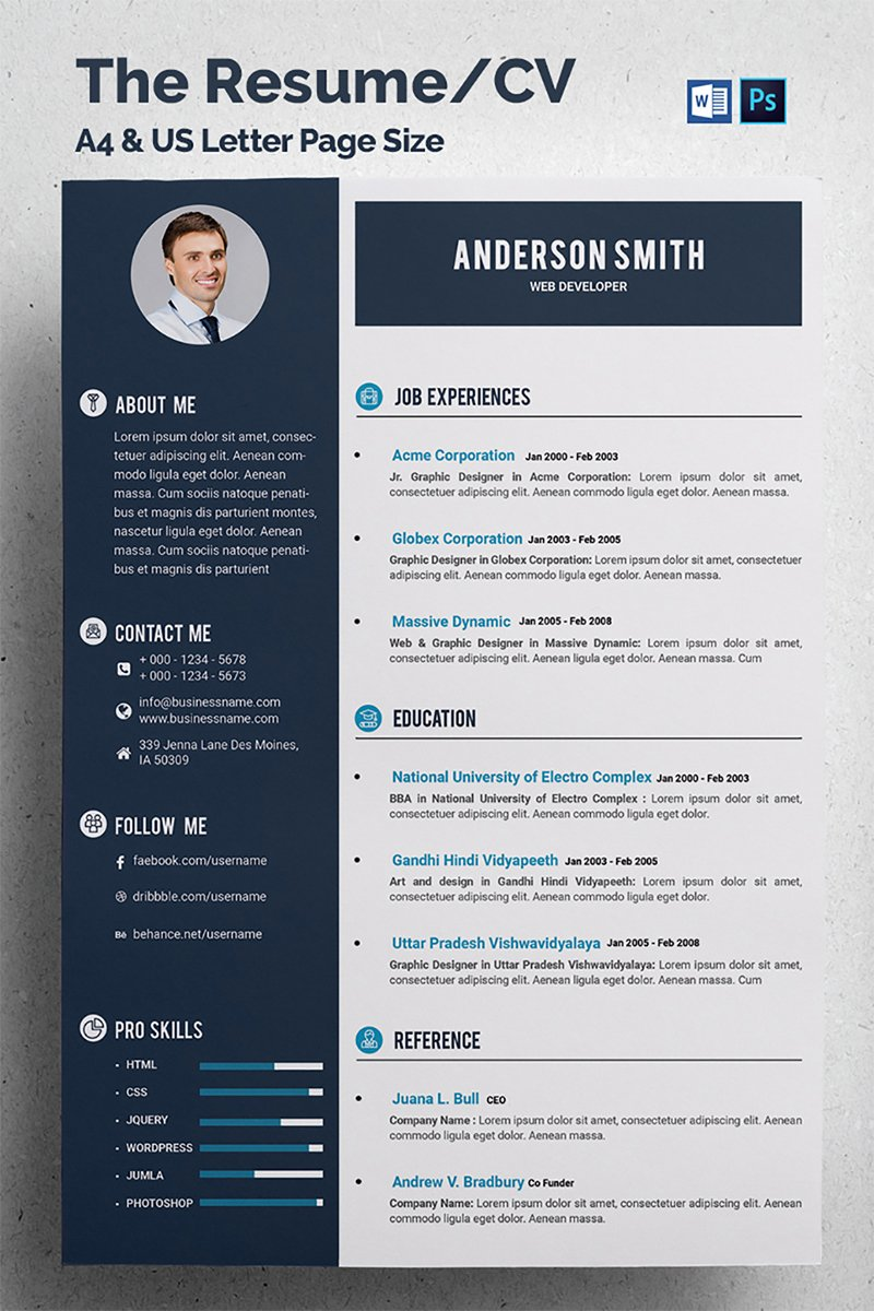 web developer cv template modelo de curr u00edculo  u211668317