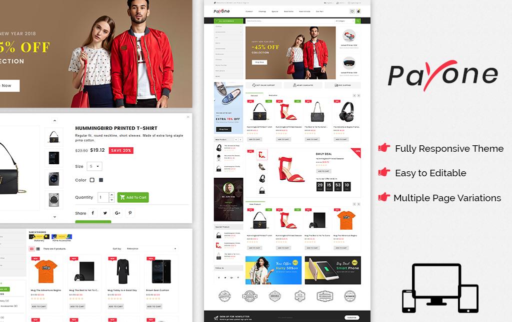Payone - Fashion Store PrestaShop Theme