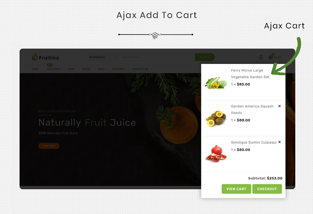 Fruitino - Food & Grocery Store WooCommerce Theme