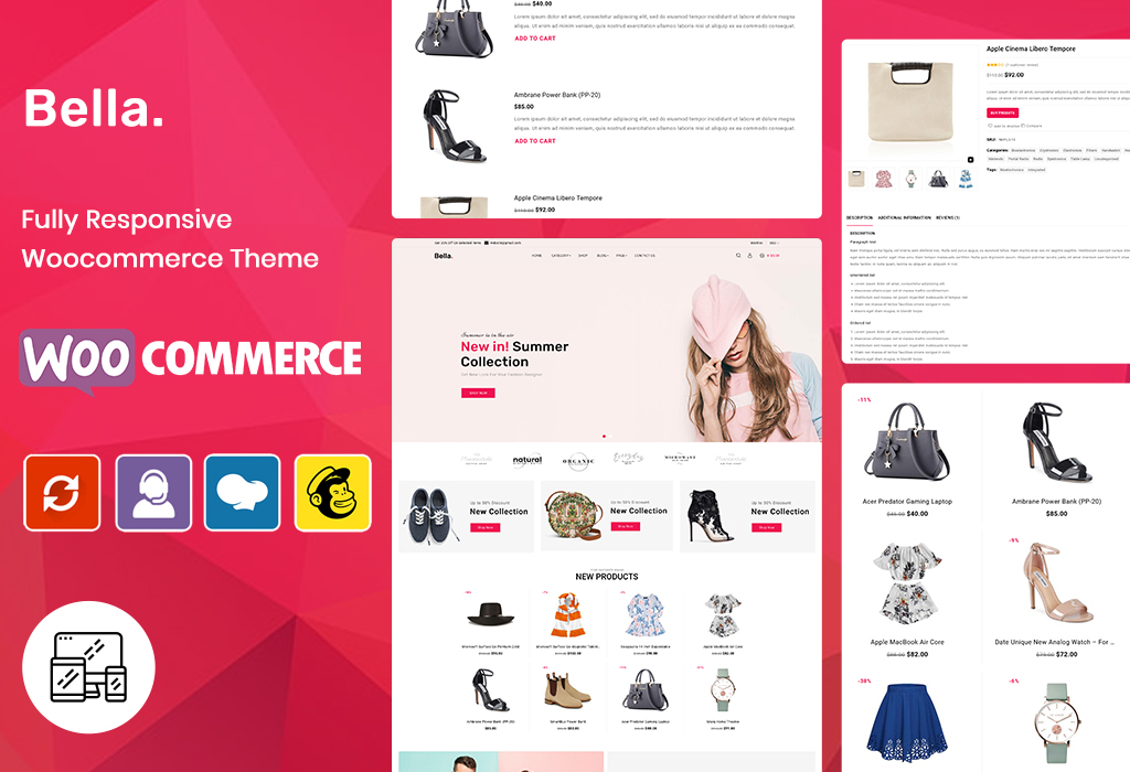 Bella - Fashion eCommerce Store WooCommerce Theme