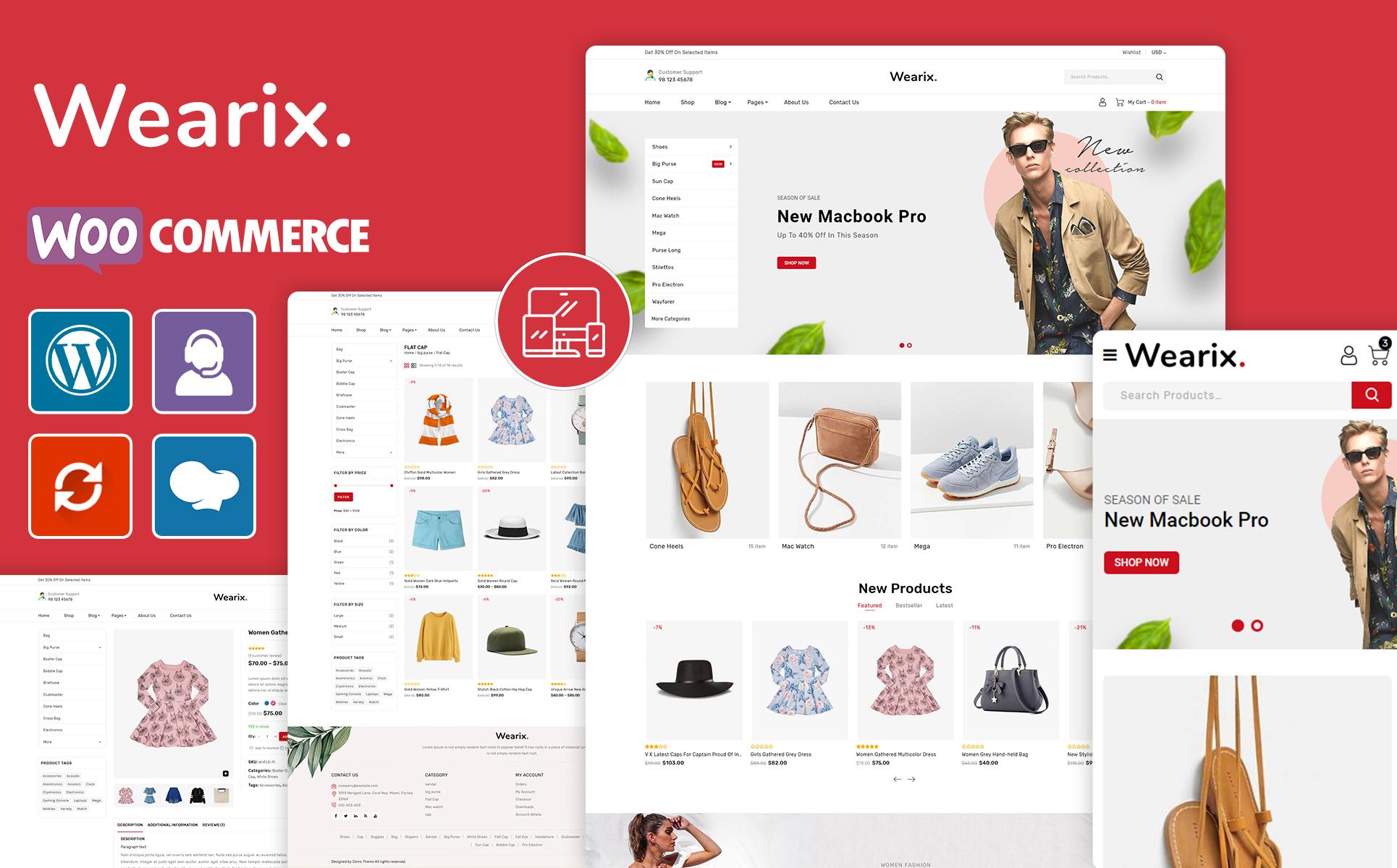 Wearix - Multipurpose Fashion WooCommerce Theme