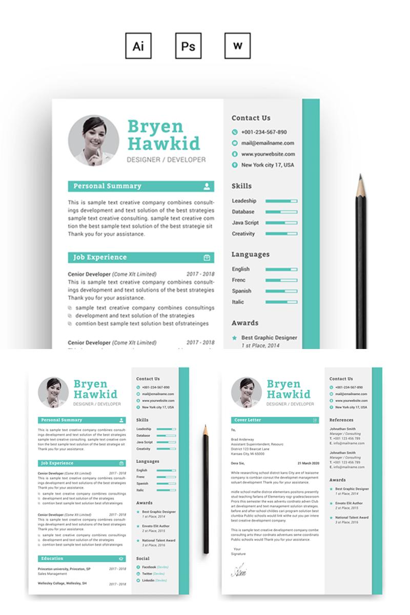 Bryen Hawkid DesignerDeveloper Resume Template