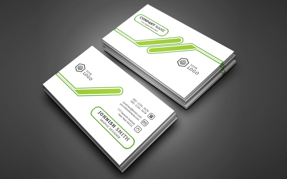 Johnish Smith Personal Business Card Corporate Identity Template #69769