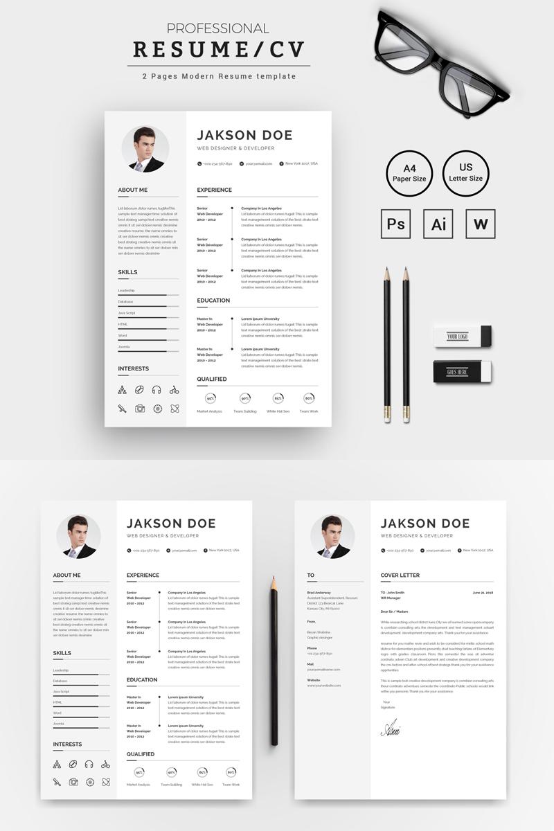 jakson doe web designer developer cv resume template 71811