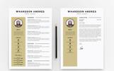 Whardson Andres Graphic Designer Resume Template