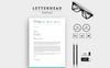 """Unternehmensidentität Vorlage namens """"Clean & Word Letterhead"""" Großer Screenshot"""