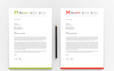 Clean & Word Letterhead Corporate identity-mall